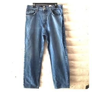 Lucky Brand men's light wash distressed look jeans